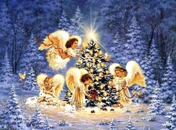 Открытка с ангелами