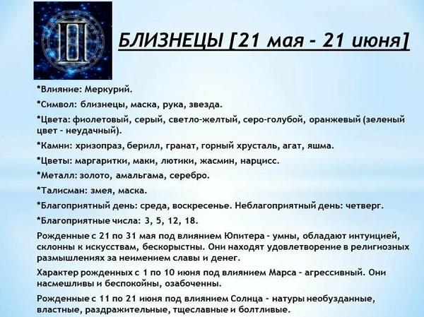 Гороскоп для Близнецов на 2022 год