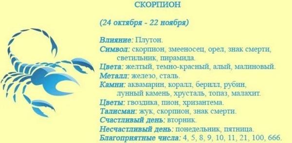 Гороскоп на 2022 год для Скорпиона